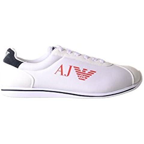 ARMANI JEANS - Zapatillas de nailon para hombre blanco blanco, color blanco, talla 43