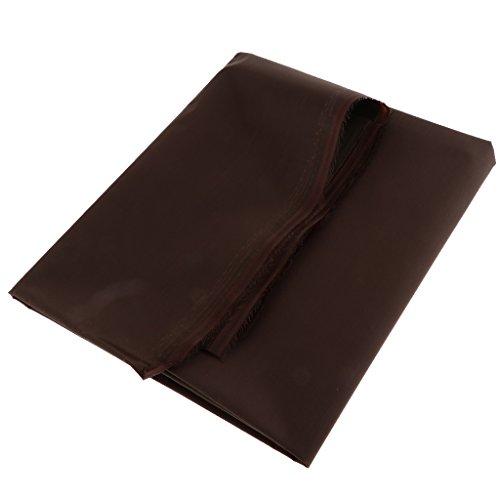 MagiDeal 420D PVC- Wasserdicht Modestoff Dekostoff Universal Stoff Kostümstoff - Meterware f. Zelte, Gepäck, Taschen, Tischdecken, Outdoor - Braun 1 Meter -