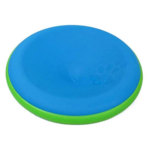 Flyer Dog Toy, Dog Training Spielzeug Frisbee Flying Disc Tooth Resistant, Natural Rubber Dog Disc, Dog Play, Dog ÜBung Und Dog Pet Fetch Spielzeug, Dog Launchers, 22 cm,Blue -