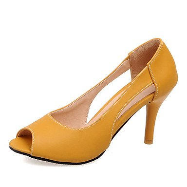 Zormey Women'S Shoes Stiletto Heel Peep Toe Pumps Kleid/Casual Blau/Gelb/Pink US4-4.5 / EU34 / UK2-2.5 / CN33