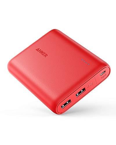 Anker PowerCore 13000mAh Powerbank Externer Akku 2-Port 3A Tragbares Ladegerät mit PowerIQ und Voltage Boost Technologie für iPhone XS Max/XR/XS/X / 8 / 8Plus / 7 / 6s / 6Plus (Rot)