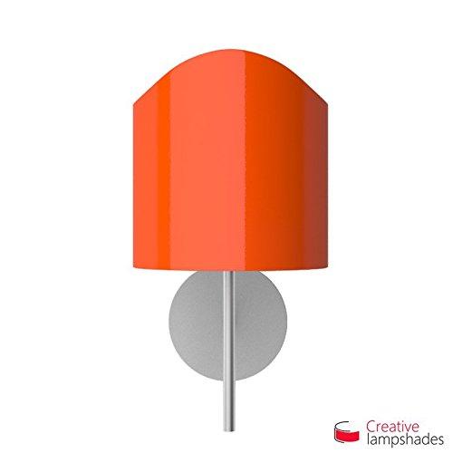 Abat-jour Applique Modelée pour lampe murale Revêtement Lumière Orange - Diamètre 30cm - H. 26cm, E27 Pour Lampe de Table