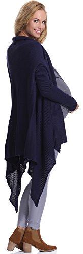 Be Mammy Damen Umstandspullover Esme Marineblau