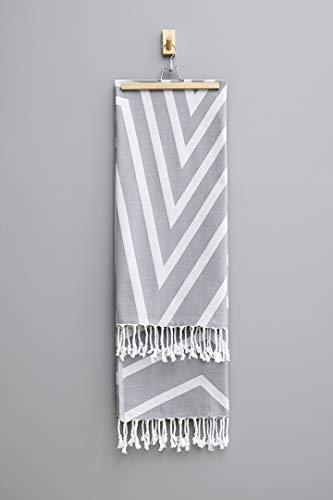 Alya hammam - asciugamano, colore: grigio chiaro