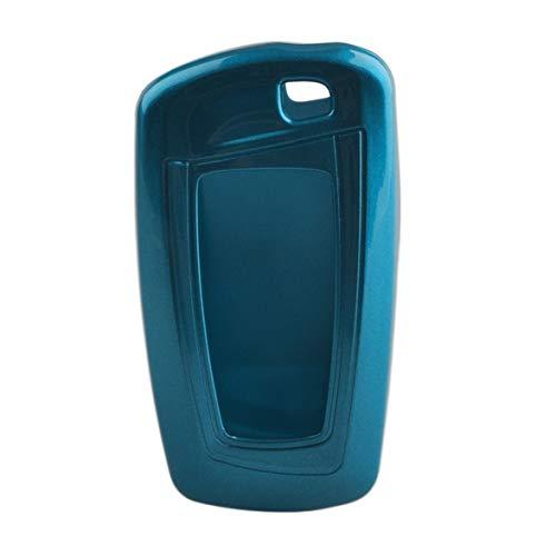 Kongqiabona Portable 8 * 4 * 2cm Taille de Poche Piano Peinture Matériel Clé de Voiture Housse de Protection pour BMW 3/5 Accessoires pour véhicules (Bleu)