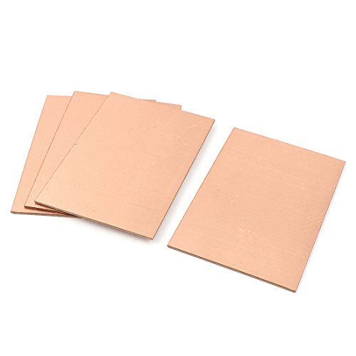 sourcing map 4stk DIY einseitig Kupfer plattiert Laminat PCB Brett Platte 100 x 70 x 1,5 mm DE de
