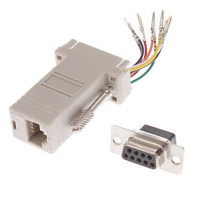 QAZSE DB9-Buchse auf RJ-45 Buchse Modular-Adapter Weiß - Rj11-rj-45-buchse