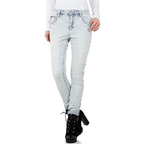 Ital-Design MOZZAAR Used Look Boyfriend Jeans Mozzaar Gr. XS Hellgrau