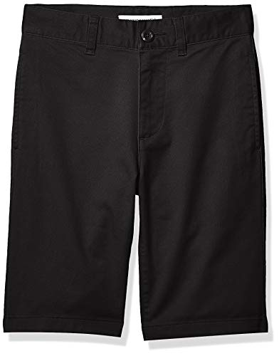 Amazon Essentials Flat Front Uniform Chino shorts, Black, 14(H) -