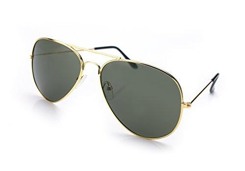 Heren Vliegenier zonnebril Oranje Goud Oranje Mirror - zilver Sonnenbrille Fliegerbrille Pornobrille...