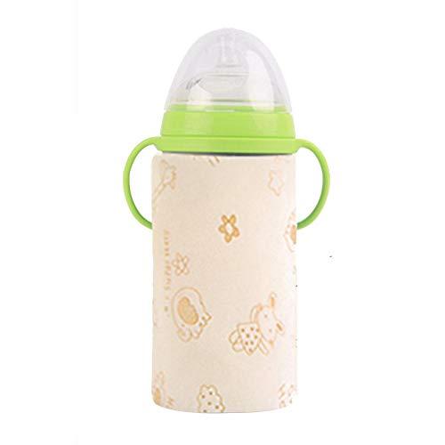 Baby Flaschenwärmer, 12V USB Portable Safe Reisen Flasche Milch Schnellheizung Konstante Temperatur wärmt Baby Milch Brust Aufbewahrungstasche Wärmer für Baby
