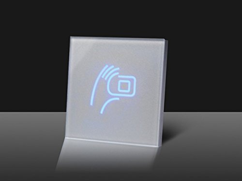 Waizmann.IDeaS® GLAS RFID NFC Leser Reader IP65 13.56MHZ IC Wiegand 26/34 RFID-Lesegerät WEEE-Reg. DE28257364 -