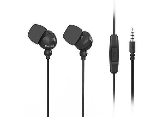 Maxell 303759 Plugz Plus mic Ohrhörer mit Mikrofon 3,5 mm Klinke schwarz -