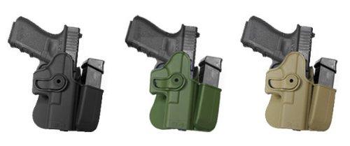 Verdeckte Carry Hand Gun GK3Polymer Holster + integrated Mag Pouch OD Green Glock 17/22/31/19/23/32/36IMI RSR Defence Gun/Pistol Holster -