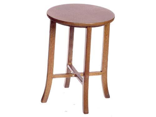 Town Square Miniatures Melody Jane Puppenhaus Hoch Rund Walnuss Tisch Miniatur Kneipe bar Möbel 1:12 Maßstab -