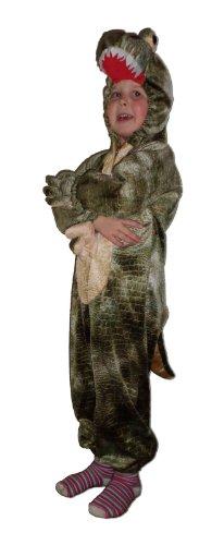 Kostüm Kinder Krokodil - Foxxeo 10857 | Krokodilkostüm Kostüm Krokodil Kroko für Kinder Kinderkrokodil Croko Kinderkostüm Fasching Gr. 98/104, 116/122, Größe:98/104