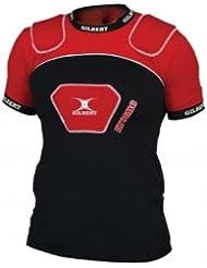 Epaulière de Rugby Atomic V2 - Noir/Rouge