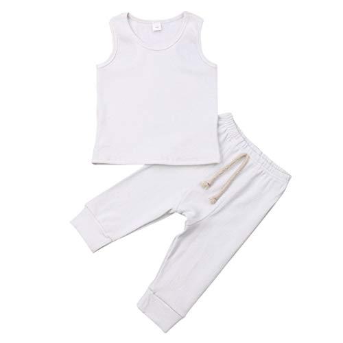 Mitlfuny Kleidung Set Kleid Damen Sommer Elegant Baby Mädchen Outfits & Set,Neugeborene Baby Mädchen Bbys Weste Top Hosen Leggings Outfit Set Sommerkleidung