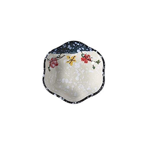Queta Untertasse aus Keramik, Handbemalt, mit Schneeflocken-Motiv, 2 Stück Jade Snow Blue Heart