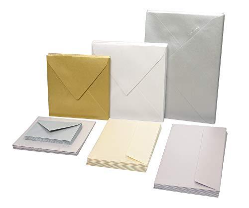 Clairefontaine 4199C Packung mit 50 Blatt Pollen, DIN A4, 210 x 297 mm, 120g, Perlmutt Elfenbein