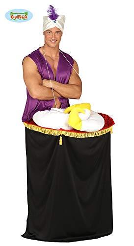 Teppich Fliegender Kostüm - Sultan Abenteurer Kostüm für Herren Karneval Fasching Orient Wunderlampe Fliegender Teppich, Größe:L