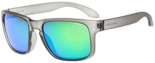 Sonnenbrille Damen Herren Unisex RELAX Cherso R2287 (2287B Grau / Gläser Rauch Grün Revo)