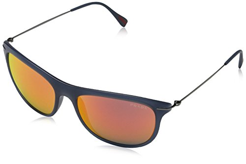 Prada Sport Herren PS01PS JAP6Y1 56 Sonnenbrille, Blau (Blue/Red Muilayer),