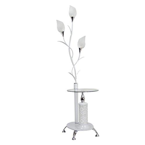 KXBYMX KXBYMXNachttischlampe Eisen Stehlampe, moderner minimalistischer Stil Lampenständer [Energieklasse A +++] (Farbe : Weiß)