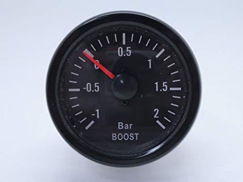CarLab 52 mm 5,1 cm mécanique Turbo Boost Gauge Mètre 2 Barre de LED Blanc - Série Traditionnel