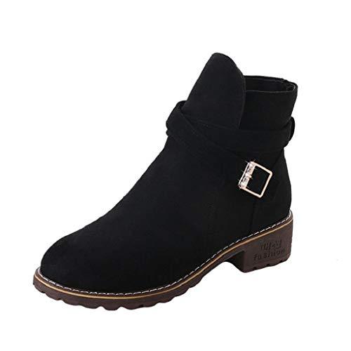 VJGOAL Damen Stiefel, Damen Mode Boho Party Hochzeit Niet Herbst Winter Keile Gewebte Schuhe Schnalle Ferse Stiefelette Stiefel