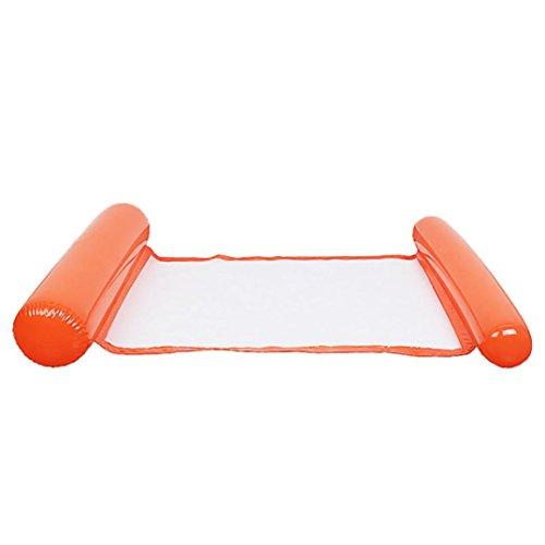 Hffan Schwimmbad Faltbarer aufblasbarer Sitz Sommer Wasser Pool Schwimmender Sitz Aufblasbarer Schwimmring Baby Kind Erwachsene mit Rückenlehne Sommer Pool Party Strand (Orange)