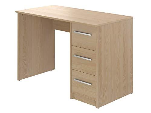 Movian, scrivania con 3 cassetti in stile moderno, modello idro, 56 x 110 x 73,5 cm,  faggio