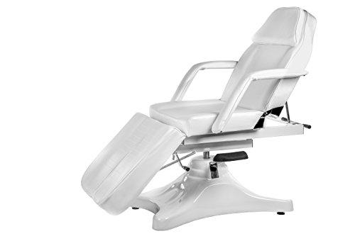 Physa ARTUS Fußpflegestuhl hydraulisch Kosmetikliege weiss Behandlungsliege höhenverstellbar 55-75 cm einzeln bewegliche Beinablagen