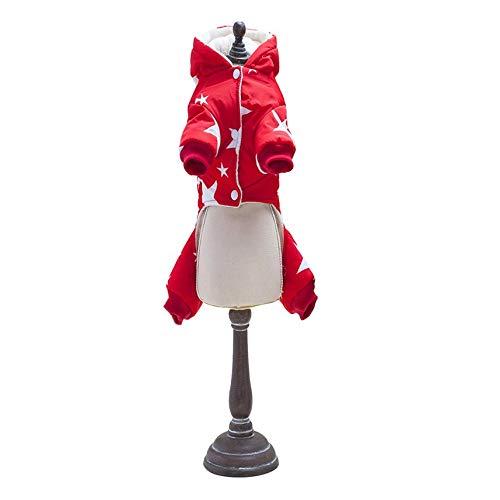 Épaisseur Quatre Jambes Coton Veste Pet Chiens Manteau D'hiver Avec Motif Étoile Petit Chien Bébé Vêtements Manteau Pour Chiens