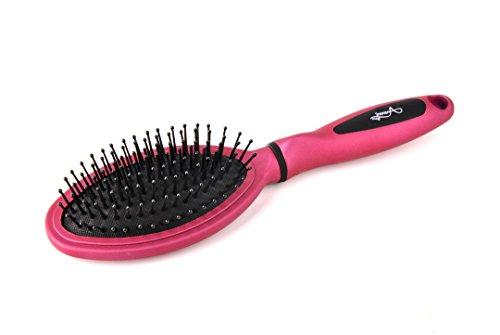 Brosse Moyen Modèle à Soufflet Ovale - Rose - Accessoire Cheveux