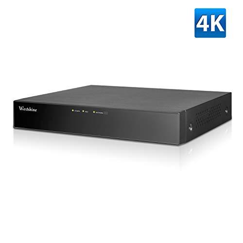 Westshine 4CH 4K/5MP H.265 + Digitaler Videorecorder unterstützt P2P-Cloud-Fernzugriff, Bewegungserkennungs-E-Mail-Benachrichtigung, 4K-Ausgabe (Keine Festplatte)