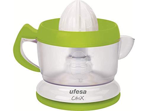 Ufesa EX4938 Activa - Exprimidor eléctrico compacto con 2 conos exprimidores intercambiables, filtro...