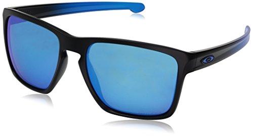 Oakley Herren Sliver Xl 934113 57 Sonnenbrille, Schwarz (Matte Black/Prizmsapphirepolarized),