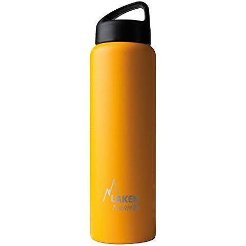 Botella térmica Classic de Laken en acero inoxidable con aislamiento al vacío y boca ancha 1L Amarillo