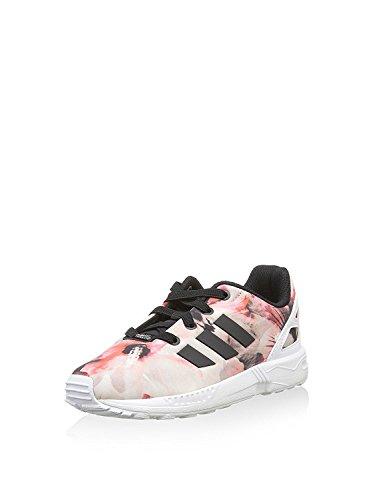 adidas Zx Flux, chaussures premiers pas mixte bébé - multicolore - Noir/rose/blanc, 21 EU