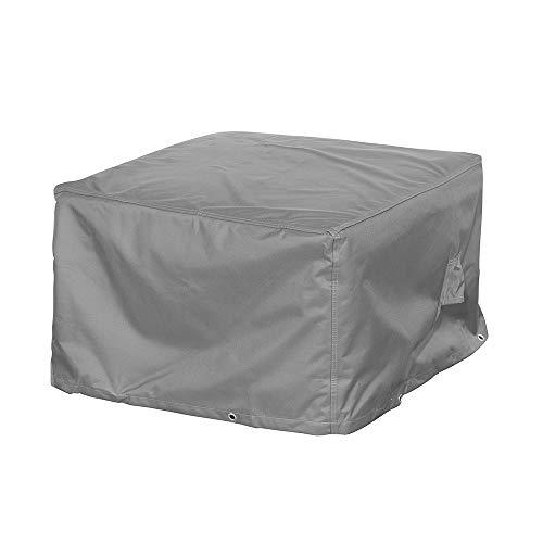 Loungehocker Schutzhülle / Abdeckung für Gartenhocker - Premium (100 x 100 x 45 cm) wasserdichte Abdeckplane für Gartenmöbel Tisch / Oxford 600D Polyestergewebe / mit Ventilationsöffnungen