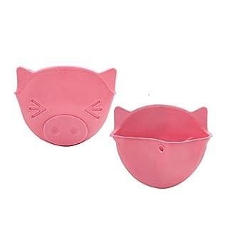 AmaSells Hitzebeständige Küchenhandschuhe aus Silikon, süße Schweine-Form, zum Schutz vor Heiß-Clip, Ferkel, hitzebeständige Handschuhe, Küchenhelfer Rose