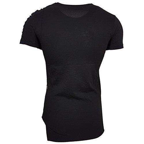 HERREN Grün Schwarz Weiß T-Shirts Größe S M L M XL XXL kurzarm Text RN15116 Schwarz