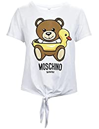 Moschino Swim Teddy Duck White Fiocco Maglia Donna Women s T-Shirt 5c43c404e90