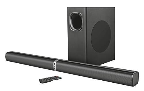 Trust Lino XL 2.1 Abnehmbare Allround Soundbar mit Subwoofer (für TV und PC-Gerät, mit Bluetooth-Technologie, 200 Watt) (Computer-lautsprecher-verstärker)