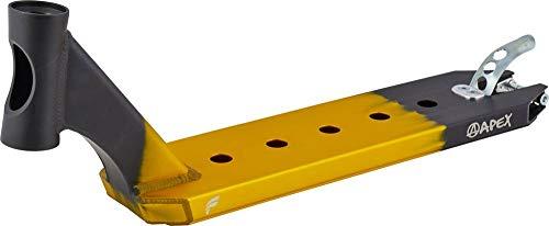 Apex Pro Stunt-Scooter Deck Corey Funk Signature 580 (49cm) Gold/schwarz + Fantic26 Sticker