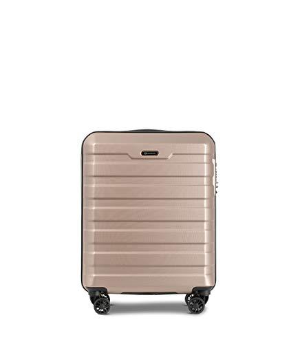 Conwood Carmel Travel Carry On Cabin Hand Luggage Suitcase 55cm CavaMist   Hardshell Super-Maneuverable, Easy Rolling, Durable and Light (Carmel 20)