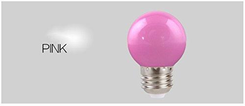 Lanlan E273W Energiesparlampe 1Home Beleuchtung Bunte LED Leuchtmittel, rosa (Led-a15-glühbirnen)