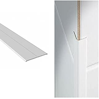 White UPVC Plastic Flexi Flexible Angle Trim 15mm x 15mm x 5 Metre Length