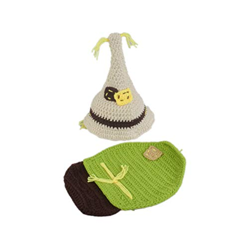 YeahiBaby Baby-Kostüm für Neugeborene, gestrickt, Weihnachtsmotiv Vogelscheuche